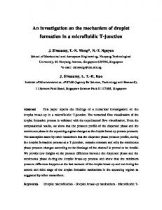 An investigation on the mechanism of droplet formation in ... - CiteSeerX
