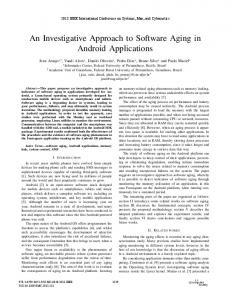 An Investigative Approach to Software Aging in Android Applications