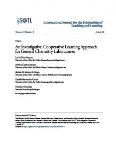 An Investigative, Cooperative Learning Approach for ...