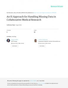 An IS Approach for Handling Missing Data in Collaborative ... - PLOS