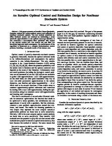 An Iterative Optimal Control and Estimation Design for Nonlinear ...