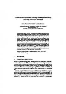 An mHealth Intervention Strategy for Physical Activity Coaching in ...
