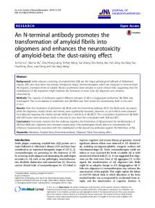 An N-terminal antibody promotes the transformation of amyloid fibrils ...
