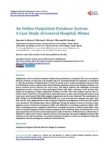 An Online Outpatient Database System: A Case Study of General ...