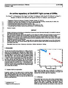 An online repository of Swift/XRT light curves of GRBs.