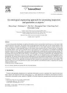 An ontological engineering approach for ... - Semantic Scholar