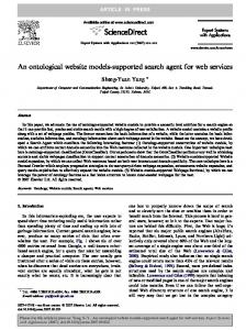 An ontological website models-supported search agent for ... - CiteSeerX