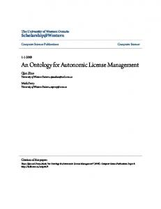 An Ontology for Autonomic License Management - Semantic Scholar
