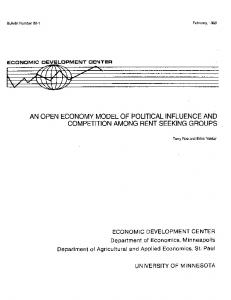 An Open Economy Model of Political Influence and ... - CiteSeerX