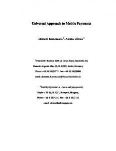 An open secure mobile payment service based on ... - Semantic Scholar