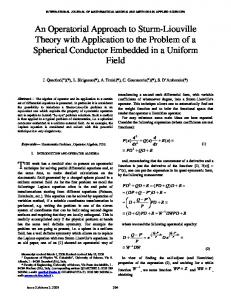 An Operatorial Approach to Sturm-Liouville Theory with Application to