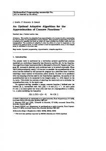 An Optimal Adaptive Algorithm for the Approximation of ... - CiteSeerX