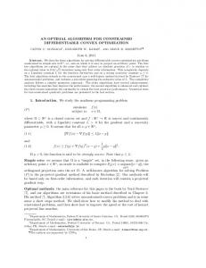 AN OPTIMAL ALGORITHM FOR CONSTRAINED DIFFERENTIABLE