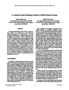 An Optimal Causal Broadcast Protocol in Mobile