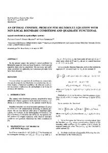 an optimal control problem for helmholtz equation with ... - CiteSeerX