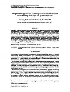 An optimal energyefficient clustering method in ... - Wiley Online Library