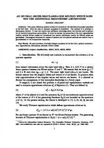 an optimal order regularization method which does not ... - CiteSeerX