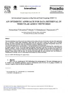 An Optimistic Approach for Data Retrieval in Vehicular Adhoc Networks
