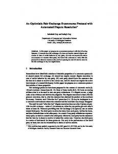 An Optimistic Fair Exchange E-commerce Protocol with Automated ...