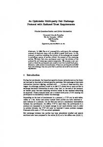 An Optimistic Multi-party Fair Exchange Protocol with Reduced Trust ...