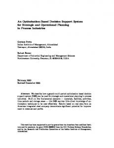 An Optimization-Based Decision Support System for