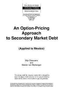 An Option-Pricing Approach to Secondary Market Debt