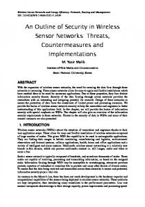 An Outline of Security in Wireless Sensor Networks - Semantic Scholar
