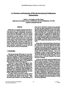 An Overview and Evaluation of Web Services ... - Semantic Scholar