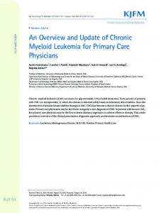 An Overview and Update of Chronic Myeloid ... - Semantic Scholar