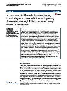 An overview of differential item functioning in multistage computer ...