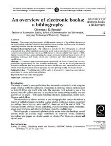 An overview of electronic books: a bibliography - Semantic Scholar