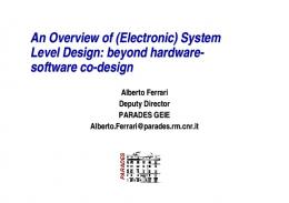 An Overview of (Electronic) System Level Design: beyond hardware ...