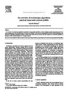 An overview of evolutionary algorithms: practical ...