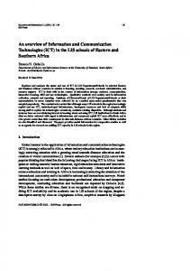 An overview of Information and Communication Technologies (ICT) in ...