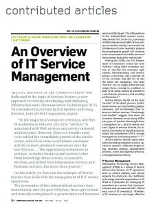 An overview of IT service management - ACM Digital Library