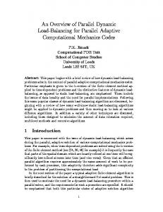 An Overview of Parallel Dynamic Load-Balancing for Parallel Adaptive ...