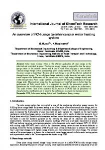 An overview of PCM usage to enhance - International Journal of ...