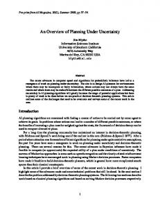 An Overview of Planning Under Uncertainty - NMSU Computer Science