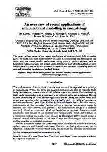 An overview of recent applications of computational ... - BioMedSearch