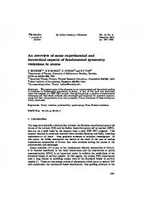 An overview of some experimental and theoretical aspects of