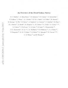 An Overview of the Dwarf Galaxy Survey