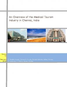 An Overview of the Medical Tourism Industry in Chennai, India - SFU.ca