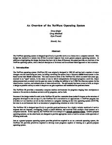 An Overview of the NetWare Operating System - Usenix