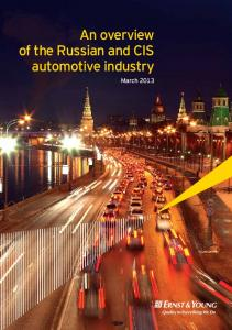 An overview of the Russian and CIS automotive industry