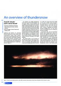 An overview of thundersnow - Wiley Online Library