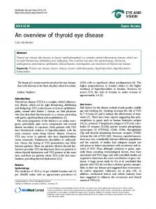 An overview of thyroid eye disease - Semantic Scholar