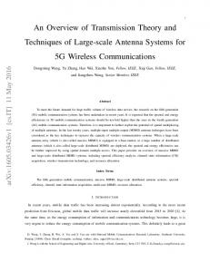 An Overview of Transmission Theory and Techniques of Large ... - arXiv