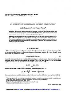 An overview on Approximate Bayesian computation - ESAIM ...