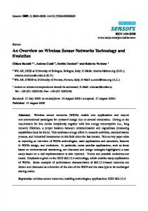 An Overview on Wireless Sensor Networks Technology ... - MDPI.com
