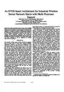 An RTOS-based Architecture for Industrial Wireless Sensor Network ...
